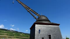 Historic Crane Bingen am Rhein Rhine valley Stock Footage