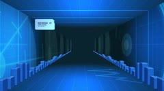 Blue Digital Tunnel Animation Stock After Effects