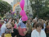 Stock Video Footage of Crowd in festival procession