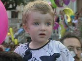 Stock Video Footage of Close up of little boy in festival procession