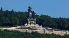 Adlerturm monument Rudesheim am Rhein Rhine valley Stock Footage