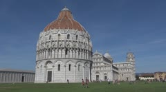 The Cathedral of Pisa and the Leaning Tower, Pisa, Italy Stock Footage