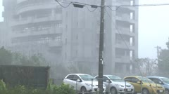 Hurricane Winds And Torrential Rain Lash Streets Stock Footage