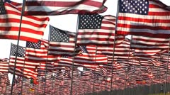 911 memorial flags Stock Footage