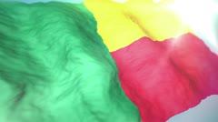 3d flag Benin loop 1080p Stock Footage