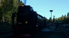 Old Steam Locomotive standing with sound 20111016 142717 Stock Footage