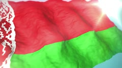 3d flag Belarus loop 1080p Stock Footage