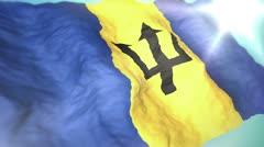 3d flag Barbados loop 1080p - stock footage