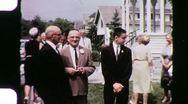 50th Wedding Anniversary Reunion Circa 1955 (Vintage Film 8mm Home Movie) 1034 Stock Footage