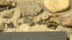 John C. Fremont monument site Stock Footage
