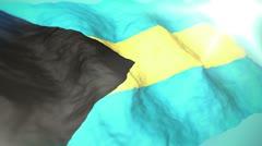 3d flag Bahamas loop 1080p Stock Footage