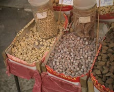 Close up of nuts for sale Stock Footage