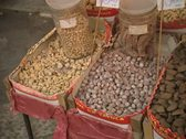 Stock Video Footage of Close up of nuts for sale