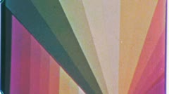 SPECIAL EFFECT Colors Rainbow Vintage Psychedelic Film Leader Endless Loop 1037 Stock Footage