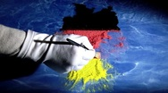 Stock Video Footage of Germany map and flag. Artist,. Time lapse