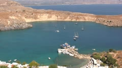 Greece - Rhodes - Bay close to Lindos Stock Footage