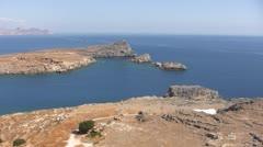 Greece - Rhodes - Coast close to Lindos Stock Footage