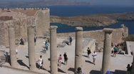 Greece - Rhodes - Lindos Acropolis Stock Footage