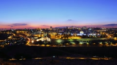 Skyline of Jerusalem sunset time lapse Stock Footage