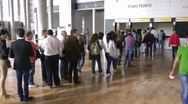 Standing in Line Timelapse Stock Footage