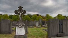 Ancient cemetery - stock footage