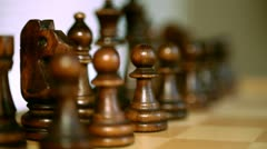 Chess 01: Black's first move Stock Footage