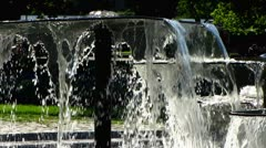 Stuttgart castle royal garden Baden Wuerttemberg water fountain Stock Footage