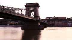 Chain Bridge Timelapse Budapest 05 - stock footage