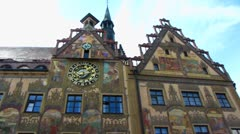 Ulm Rathaus Town hall Stock Footage