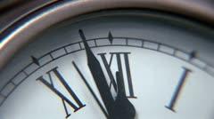 Clock - ECU 1 Stock Footage