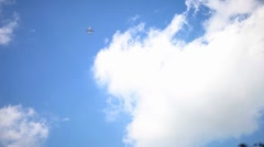 Airplane in the clouds Stock Footage