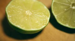 Lime 02: Slicing the lime Stock Footage