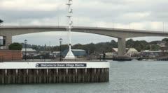 Ocean Village Marina and Itchen Bridge Stock Footage