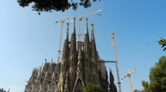 Sagrada Familia, Barcelona, Spain Stock Footage