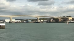 Itchen Bridge over River Itchen in Southampton Stock Footage