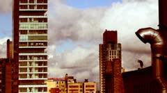 New york skyline manhattan NYC ny Stock Footage
