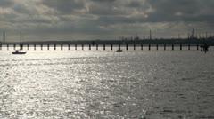 Southampton Water Jetty Stock Footage