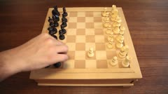 Chess 08: timelapse of two players dueling Stock Footage