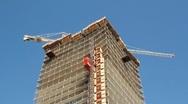 Condo construction. Stock Footage