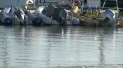 Rubber Dinghies Stock Footage