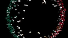 Stock Video Footage of Mexico flag converging animation