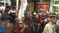 Protest, Occupy (Wall-Street) Calgary #8, crowds Stock Footage