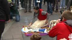 Protest, Occupy (Wall-Street) Calgary, smudge ceremony Stock Footage