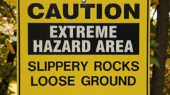 Extreme Hazard Area. Stock Footage