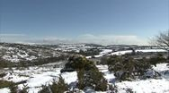 Stock Video Footage of Dartmoor covered In Snow