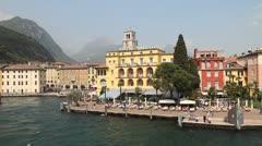 Riva del Garda, Italy Stock Footage