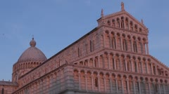 The Cathedral of Pisa in Square of Miracles, Cathedral Square, Pisa, Italy Stock Footage