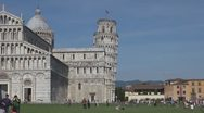 Stock Video Footage of The Cathedral of Pisa and the Leaning Tower, Pisa, Italy