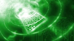Number Keypad Background Green Stock Footage