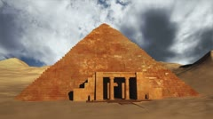 Egyptian Scene Clouds Timelapse 04 Stock Footage